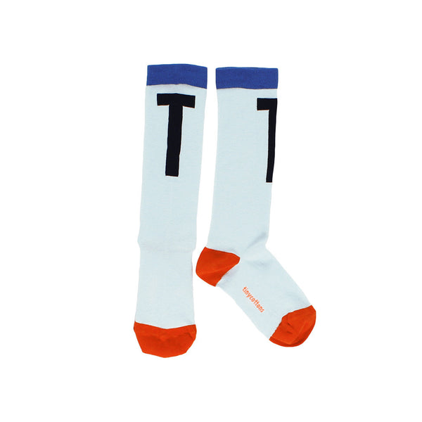 tinycottons Kids accessories T high socks-light blue/dark navy - Ever Simplicity
