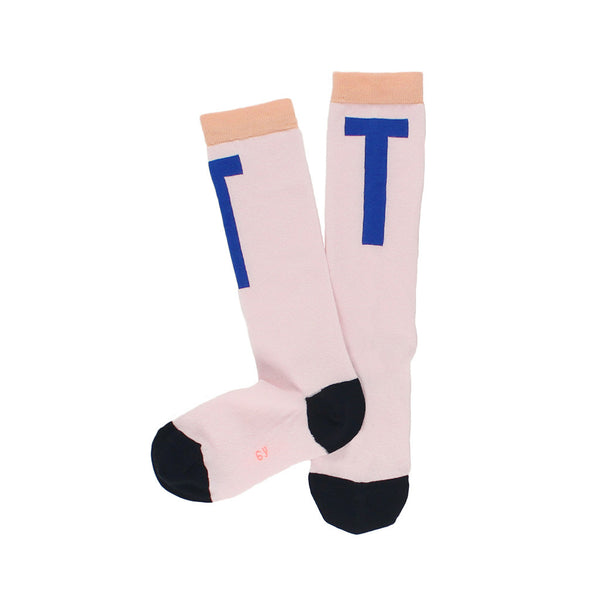 tinycottons Kids accessories T high socks-pale pink/blue - Ever Simplicity
