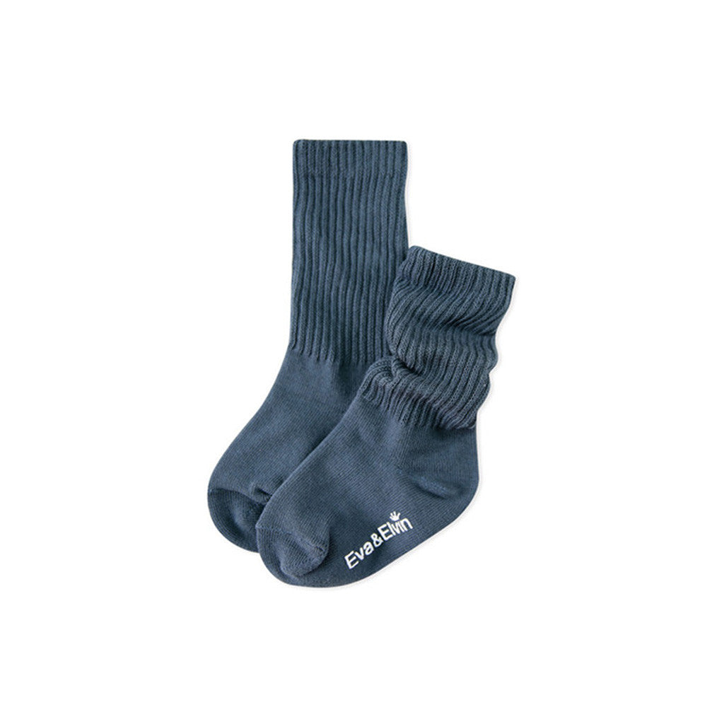 Eva & Elvin Kids accessories Toes Warmer Socks-Deep Blue - Ever Simplicity