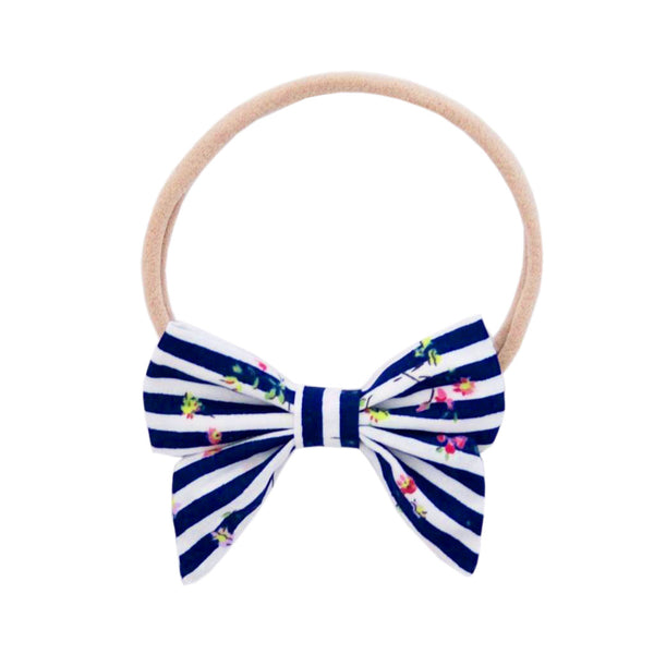 Ever Simplicity Kids accessories Blue Stripe Mini Sailor Bow - Ever Simplicity