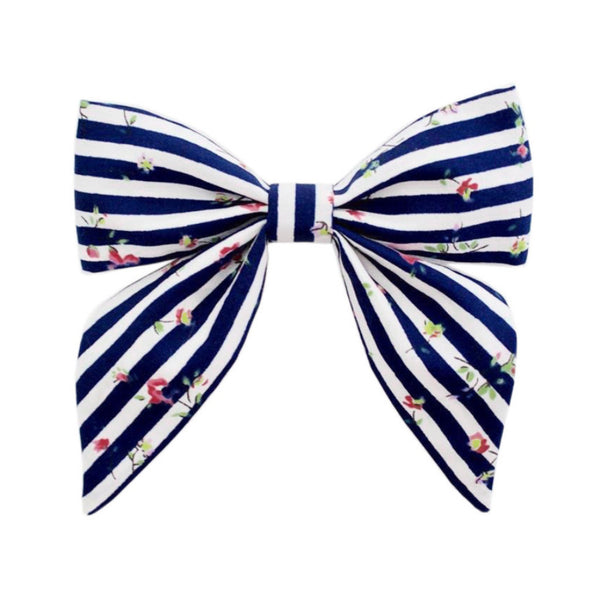 Ever Simplicity Kids accessories Blue Stripe Sailor Bow - Ever Simplicity