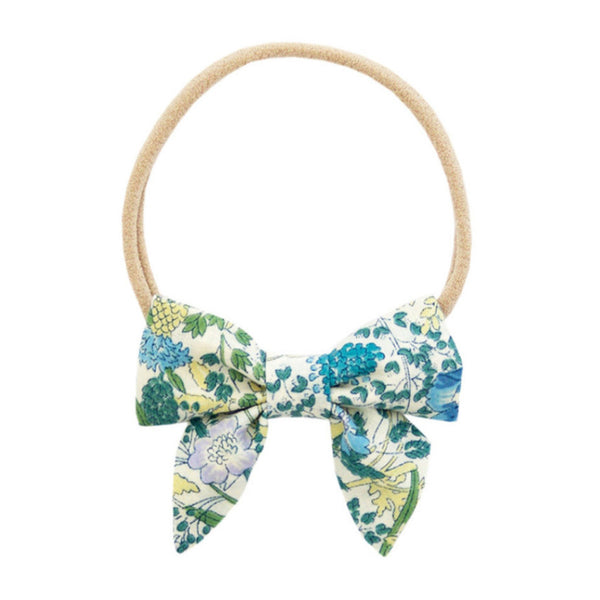 Ever Simplicity Kids accessories Green Flower Mini Sailor Bow - Ever Simplicity