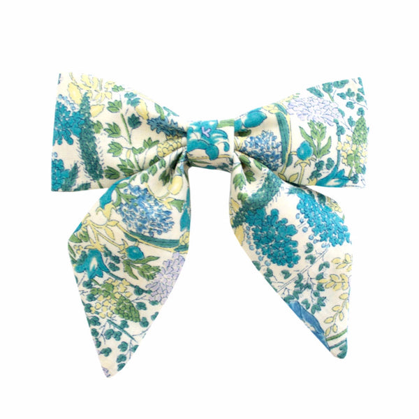 Ever Simplicity Kids accessories Green Flower Sailor Bow - Ever Simplicity