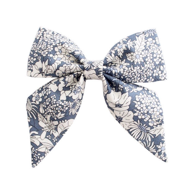 Ever Simplicity Kids accessories Grey Liberty Sailor Bow - Ever Simplicity