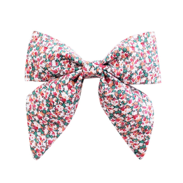 Ever Simplicity Baby accessories Pink Liberty Scatter Sailor Bow - Ever Simplicity