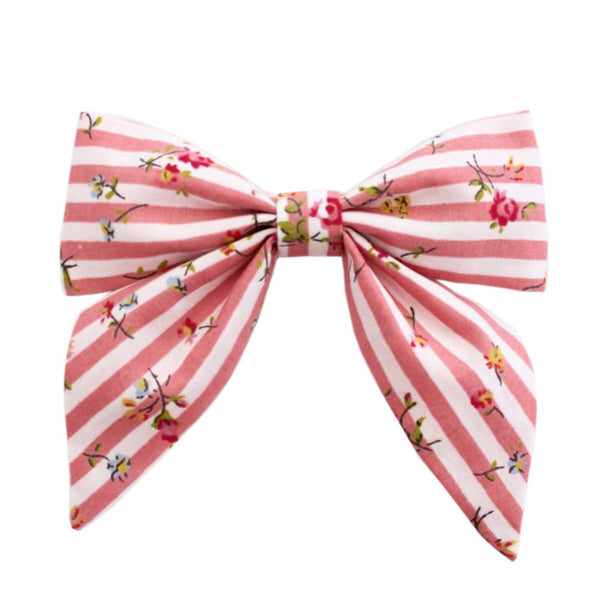 Ever Simplicity Baby accessories Pink Stripe Sailor Bow - Ever Simplicity