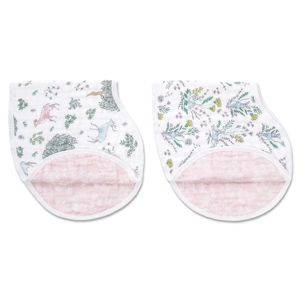 aden + anais Kids accessories Forest Fantasy Burpy Bib 2 Pack - Ever Simplicity