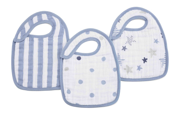 aden + anais Kids accessories Rock Star Classic Snap Bib 3 Pack - Ever Simplicity