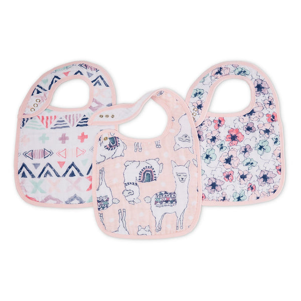 aden + anais Kids accessories Trail Blooms Classic Snap Bib 3 Pack - Ever Simplicity