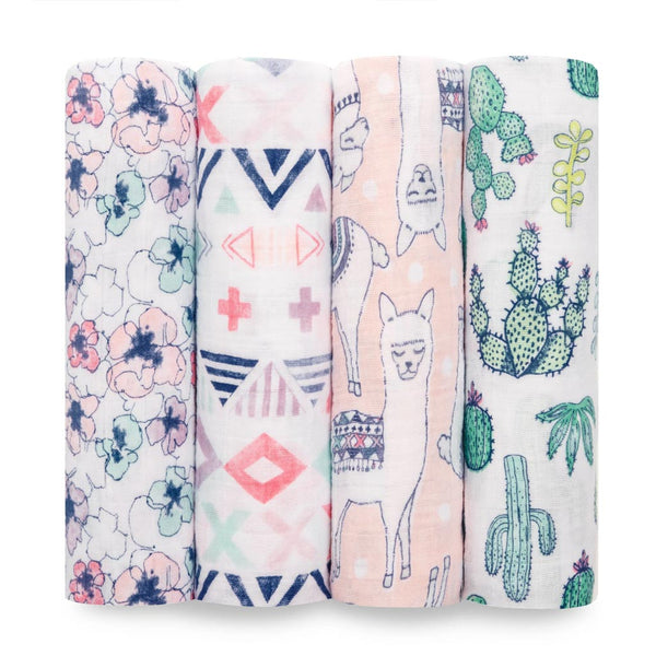 Trail Blooms Classic Swaddle Set 4 Pack