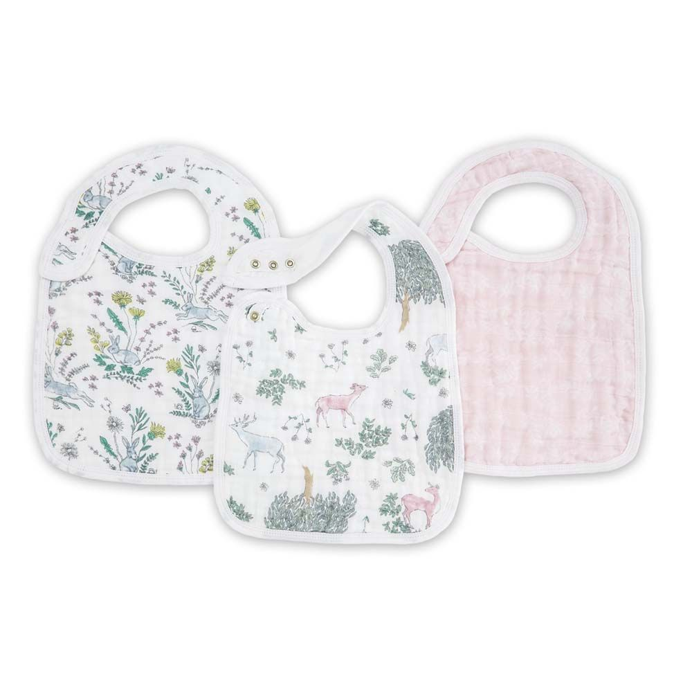 aden + anais Kids accessories Forest Fantasy Snap Bib 3 Pack - Ever Simplicity