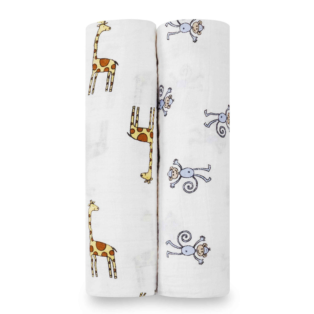 aden + anais Kids accessories Jungle Jam Swaddle Set 2 Pack - Ever Simplicity