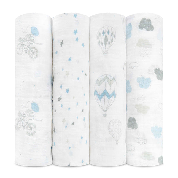 aden + anais Kids accessories Night Sky Reverie Swaddle Set 4 Pack - Ever Simplicity