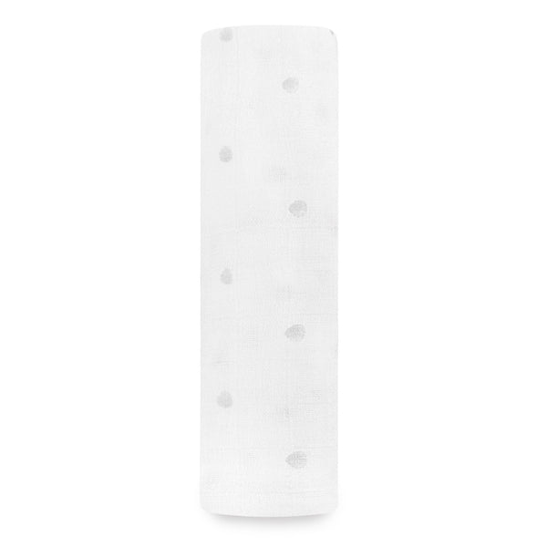 aden + anais Kids accessories Grey Water Dot Swaddle - Ever Simplicity