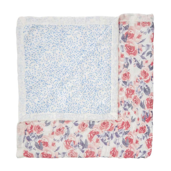 aden + anais Kids accessories Watercolor Garden Roses Silky Soft Dream Blanket - Ever Simplicity