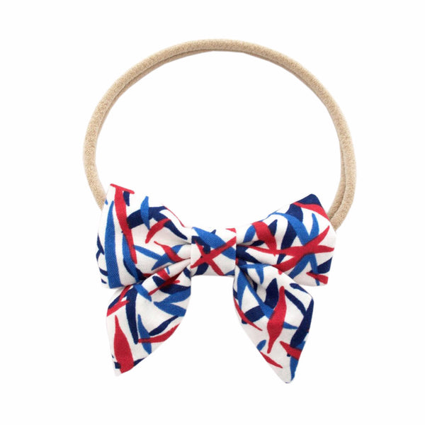 Ever Simplicity Kids accessories Abstract Mini Sailor Bow - Ever Simplicity
