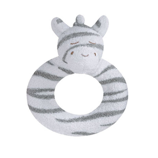Angel Dear Kids accessories Grey Zebra Ring Rattle - Ever Simplicity