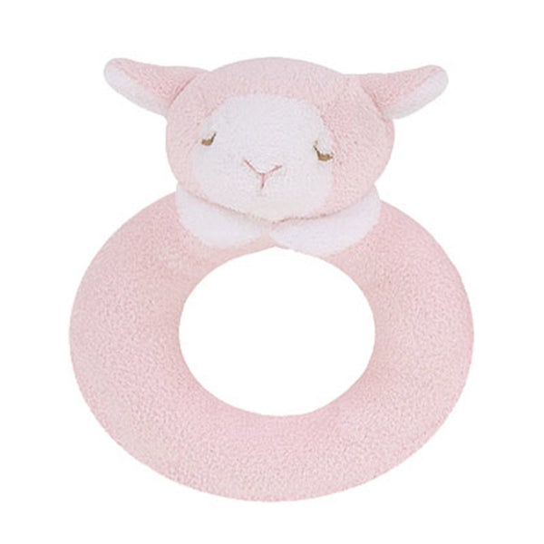 Angel Dear Baby accessories Pink Lamb Ring Rattle - Ever Simplicity