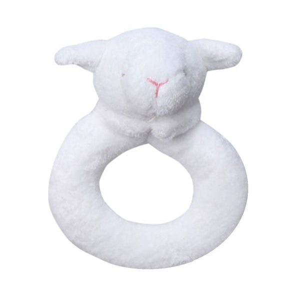 Angel Dear Baby accessories White Lamb Ring Rattle - Ever Simplicity