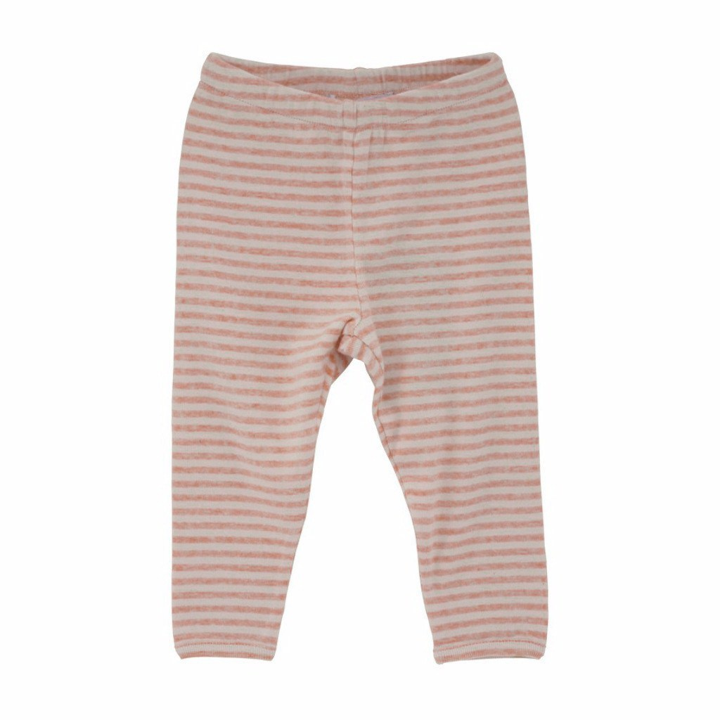 Serendipity Organics Baby Bottom Organic Leggings Stripe-Peach/Ecru - Ever Simplicity