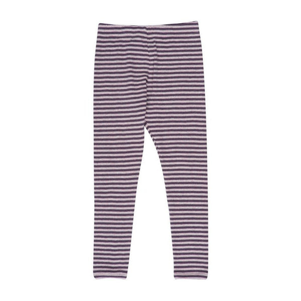 Serendipity Organics Baby Bottom Organic Stripe Leggings -Rose/Plum - Ever Simplicity