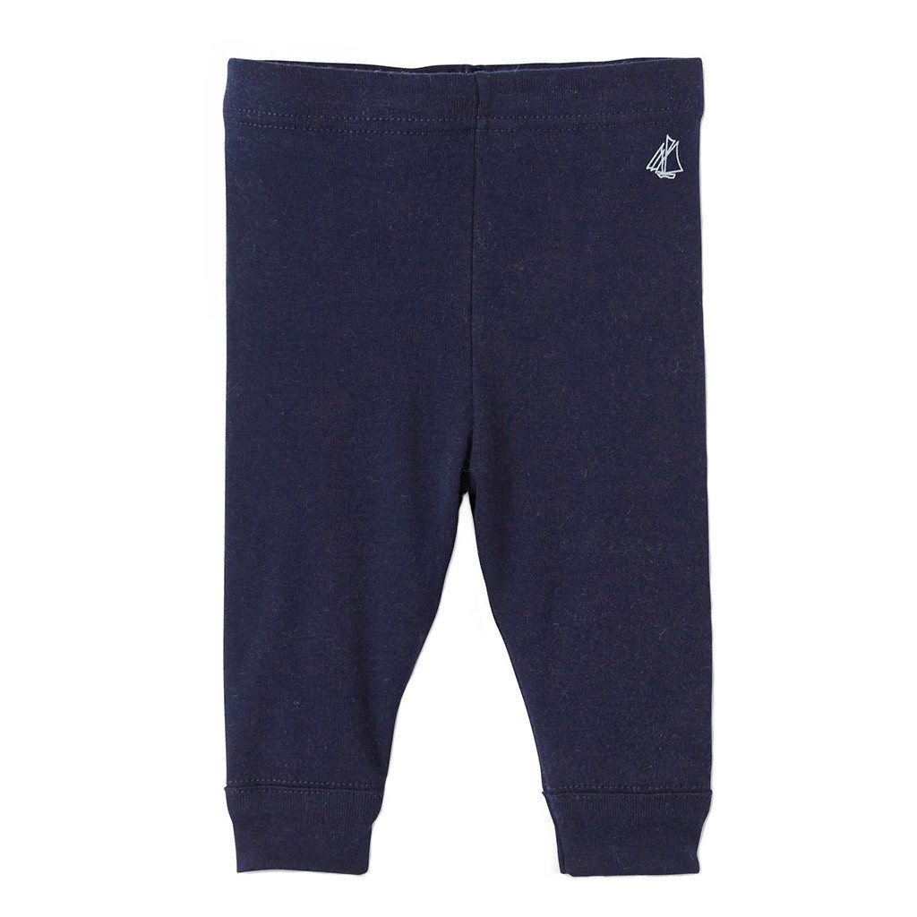 Petit Bateau Kids Bottom Plain Navy Leggings - Ever Simplicity