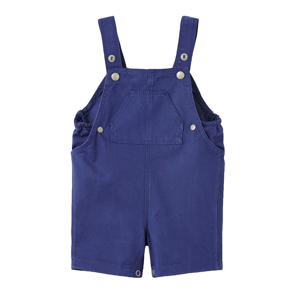Petit Bateau Baby one-pieces Navy Twill Overall - Ever Simplicity