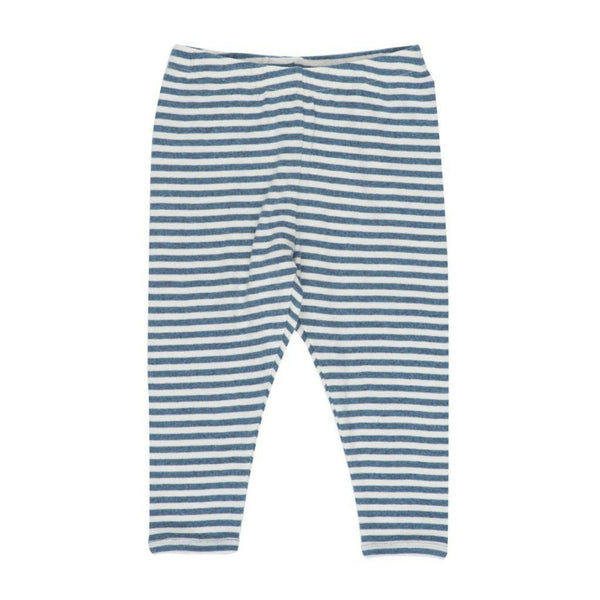 Serendipity Organics Baby Bottom Organic Leggings Stripe-Stormy Blue - Ever Simplicity