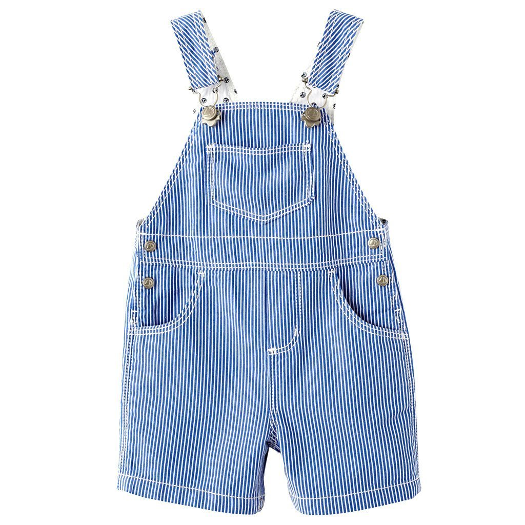 Petit Bateau Baby bodysuit Striped Overall-Blue/White - Ever Simplicity