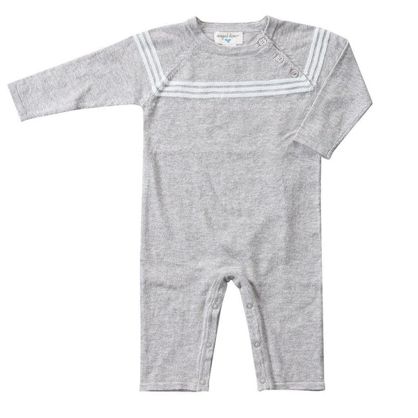 Angel Dear Kids romper Grey Heather Mini Sailor Coverall - Ever Simplicity