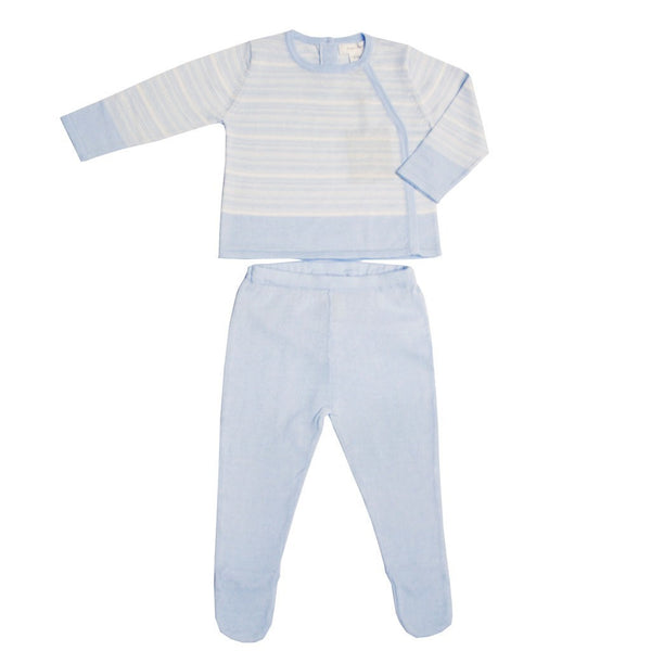 Angel Dear Kids sets Blue Fresh Stripe Two Piece - Ever Simplicity
