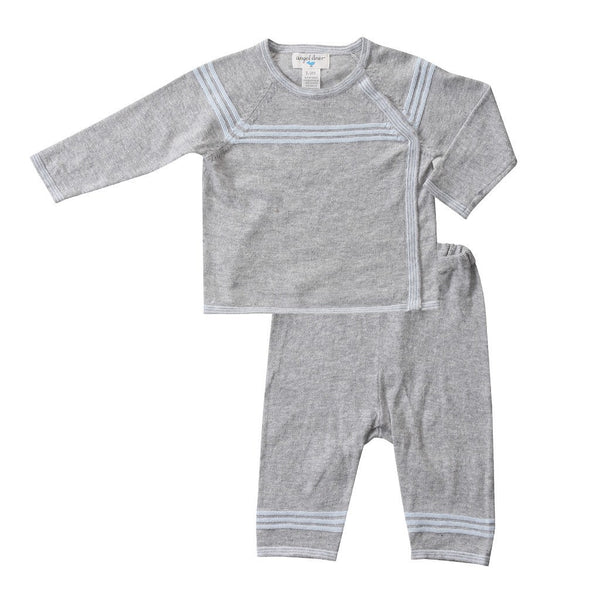 Angel Dear Kids sets Mini Sailor Grey Heather Top & Pant - Ever Simplicity