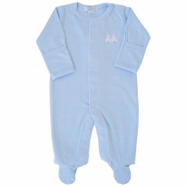 Kissy Kissy Boy Gingham Bunny Footie - Ever Simplicity - 1