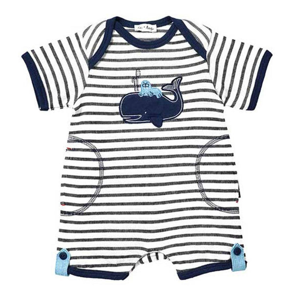 Le Top Baby romper Stripe French Terry Romper - Ever Simplicity