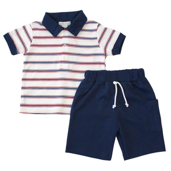 Kissy Kissy Kids sets Nautical Mile T-shirt & Bermuda Set - Ever Simplicity