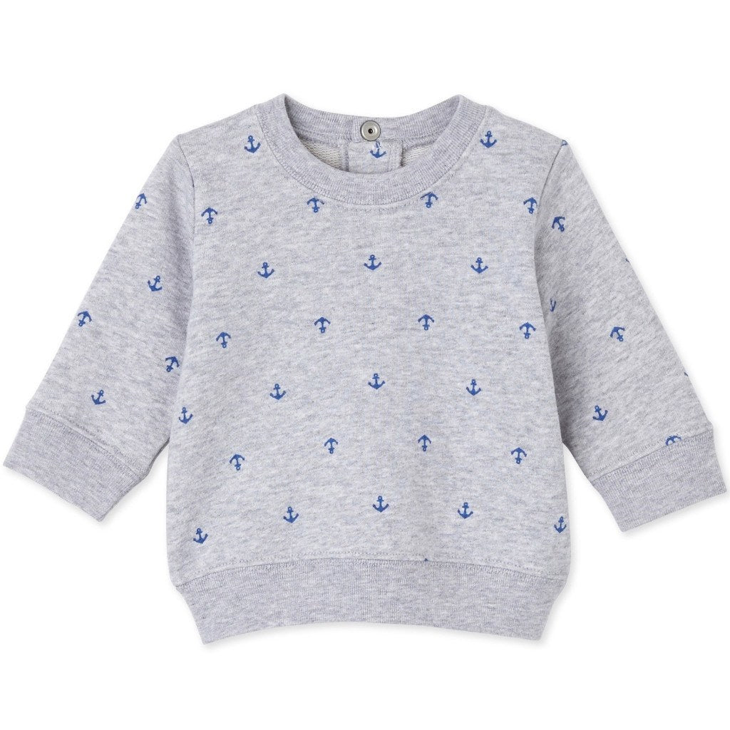 Petit Bateau Kids tops Anchor Sweatshirt-Grey - Ever Simplicity
