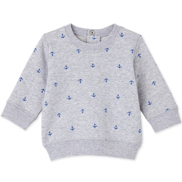 Petit Bateau Baby tops Anchor Sweatshirt-Grey - Ever Simplicity