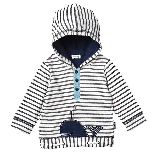 Le Top Baby tops Stripe French Terry Pullover Hoodie - Ever Simplicity