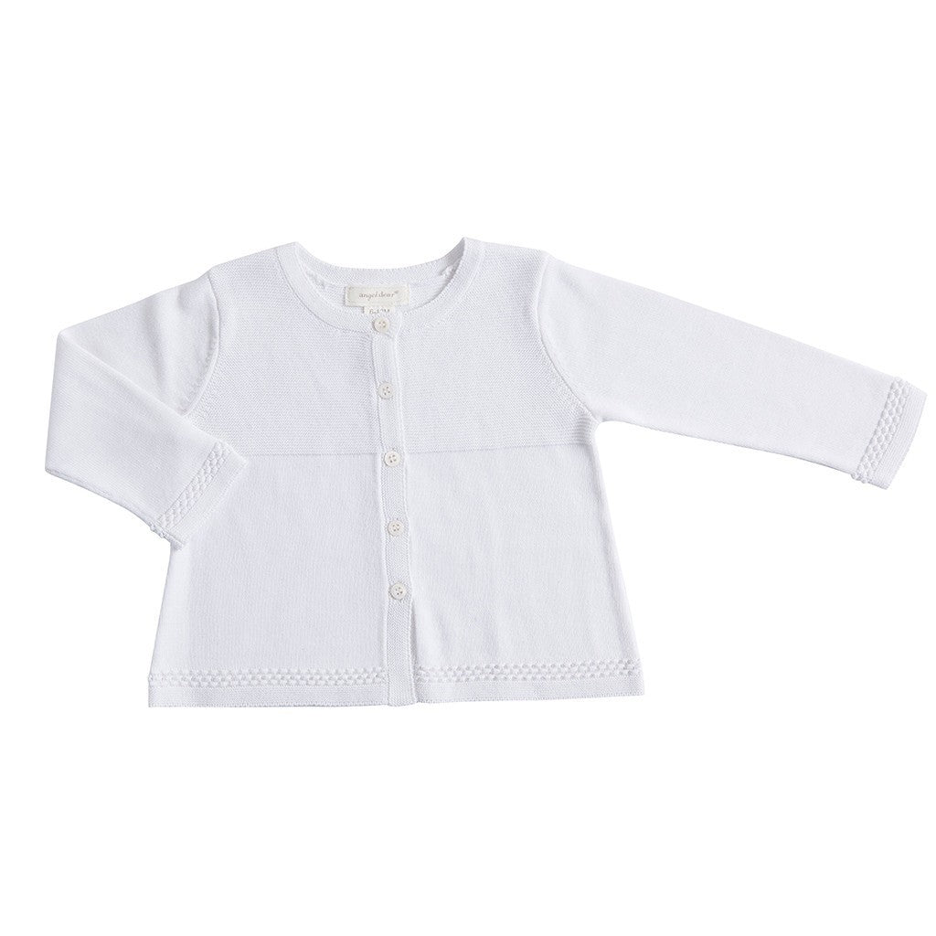 Angel Dear Baby cardigan White Bella Cardigan - Ever Simplicity