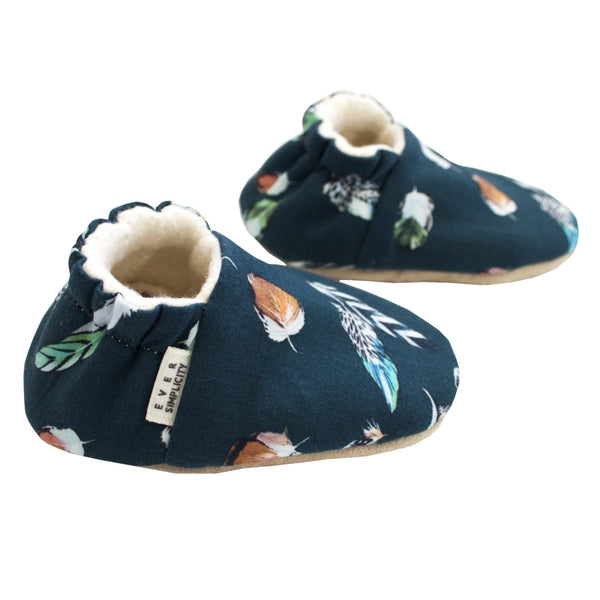 Ever Simplicity Kids accessories Feather Shoes-Teal - Ever Simplicity