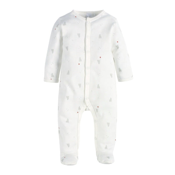 Petit Lem Baby footie Teddy Bear Print Footie Sleeper - Ever Simplicity