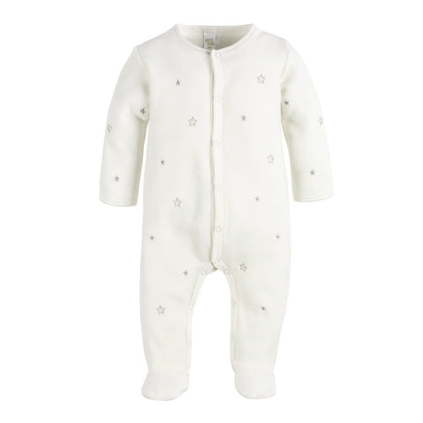 Petit Lem Baby footie Velour Star Sleeper - Ever Simplicity