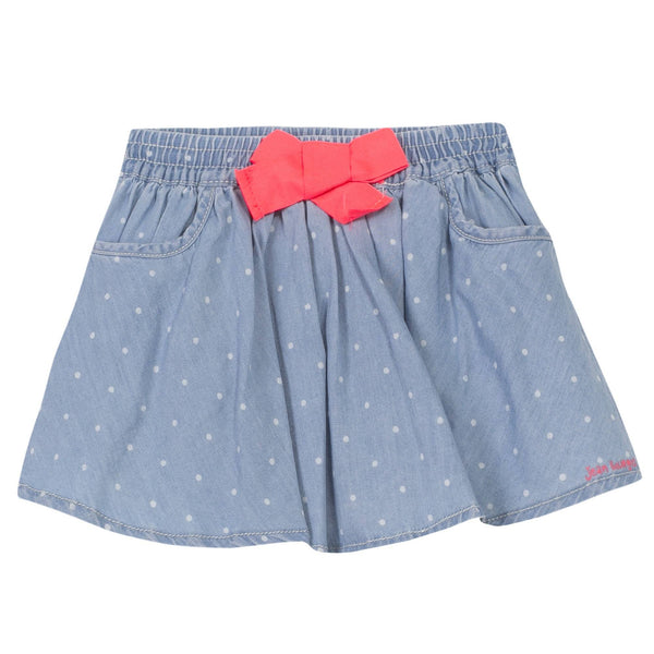 Jean Bourget Kids Bottoms Dotted Denim Skirt - Ever Simplicity