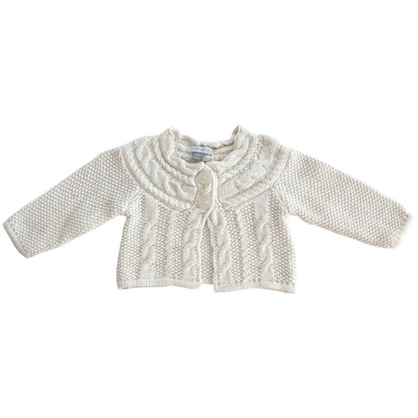 Petit Lem Ivory Metal Cable Cardigan - Ever Simplicity - 1