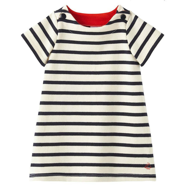 Petit Bateau Kids dresses Striped Short Sleeve Dress - Ever Simplicity