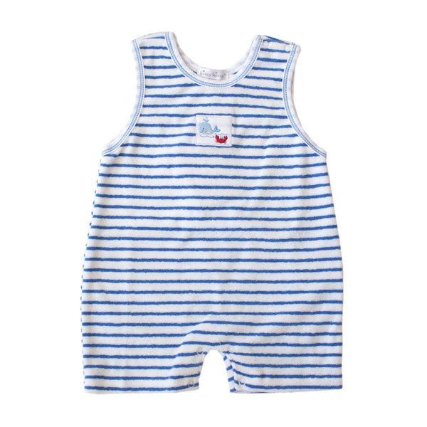 Kissy Kissy Baby one-piece Whale Tails Terry Stripe Playsuit - Ever Simplicity