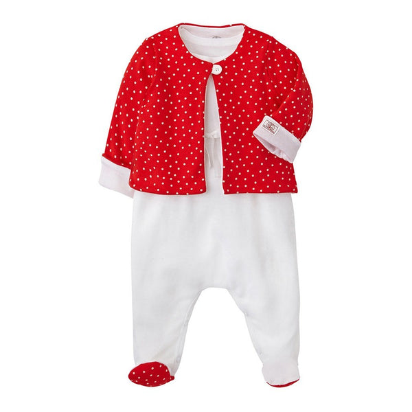 Petit Bateau Kids sets Jacket & Sleeveless Footie Set - Ever Simplicity
