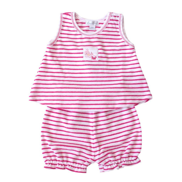 Kissy Kissy Kids sets Whale Tails Terry Stripe Set - Ever Simplicity