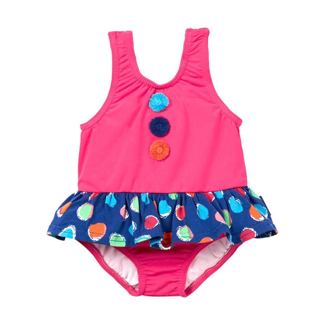 Le Top Baby one-pieces SPF Skirted Dot Swimsuit - Ever Simplicity