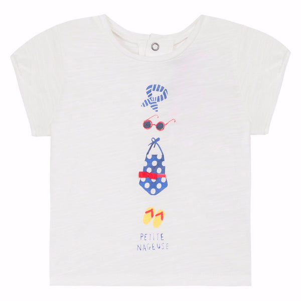 Jean Bourget Kids tops Graphic slubbed jersey T-shirt - Ever Simplicity